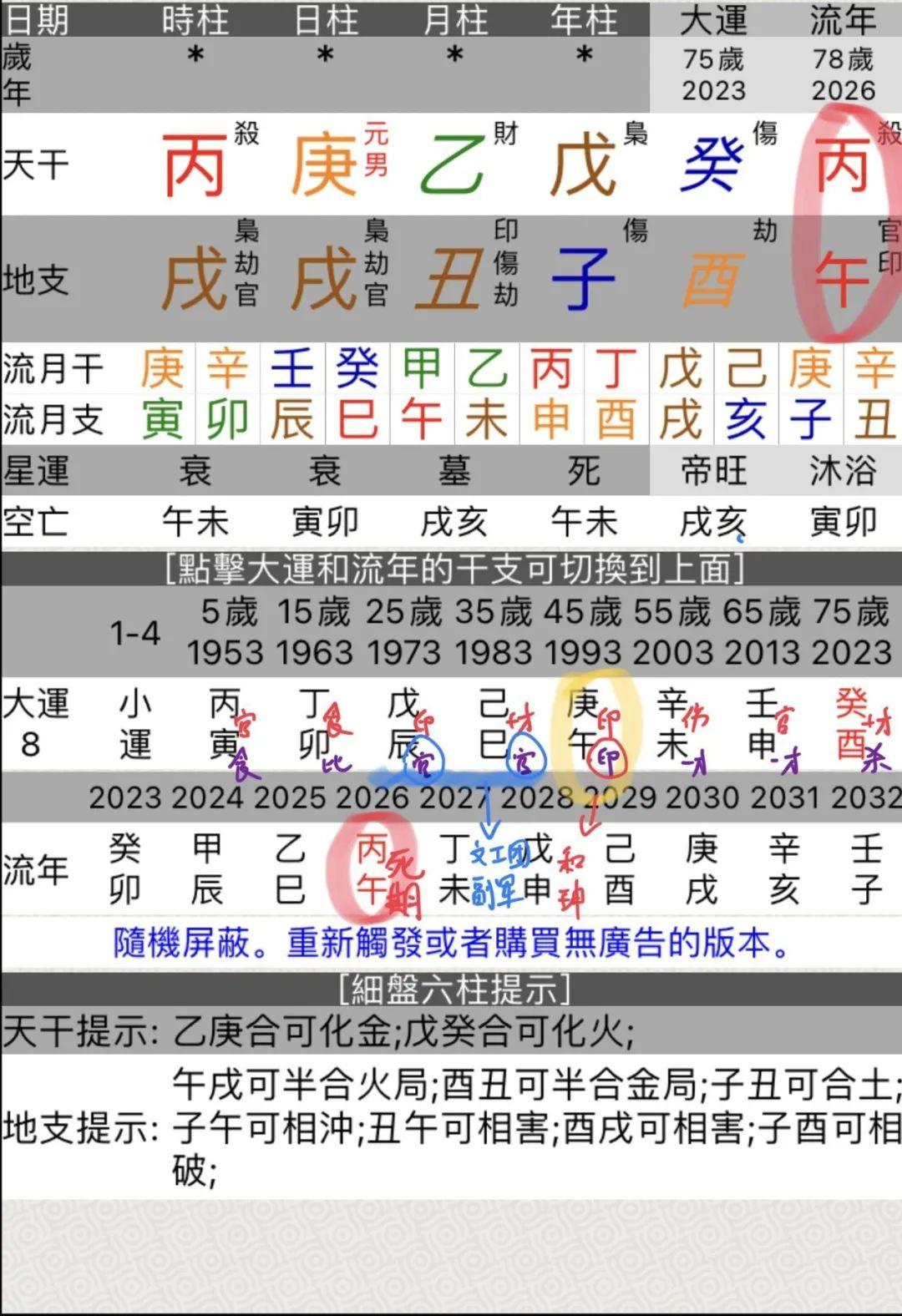从自创的数字八字看王刚的寿命